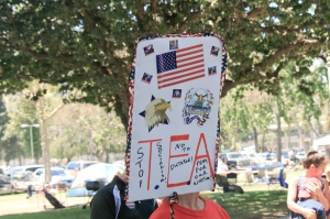 Another AMERICAN TEA party sign.